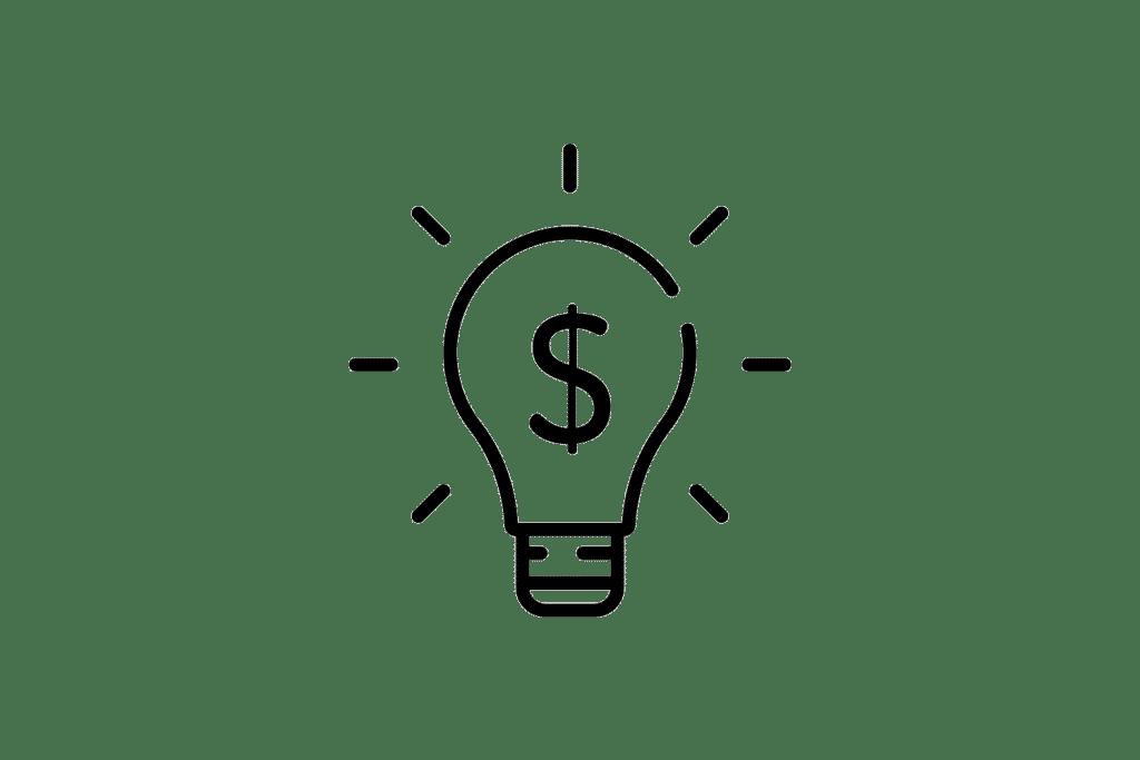 Glühbirne als Symbol für die Kostenersparnis bei der online Steuerberatung