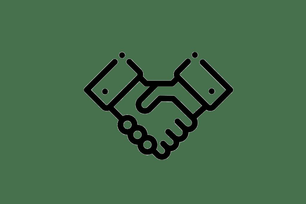 Händeschütteln als Symbol für den partnerschaftlichen Beratungsansatz