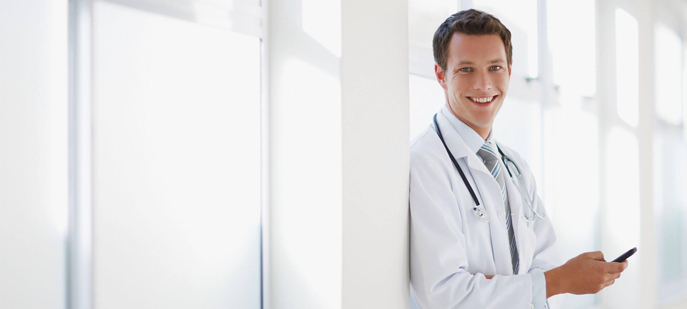Arzt gründet Einzelpraxis.