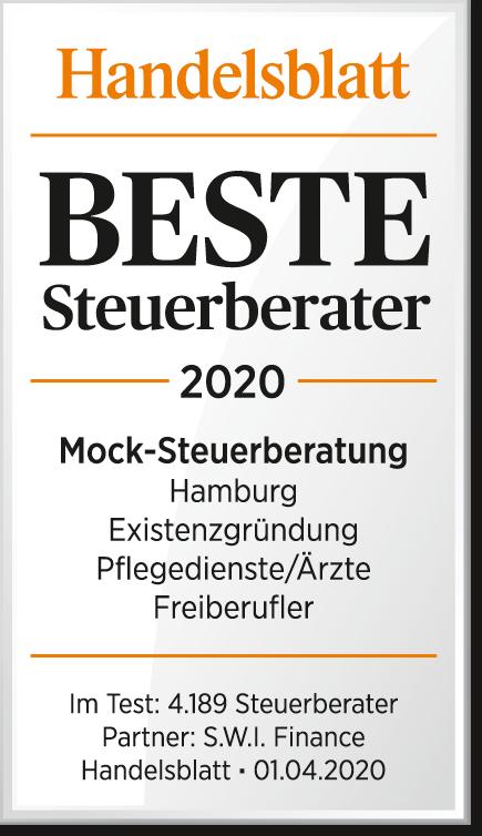 Auszeichnung als einer der besten Steuerberater in Hamburg